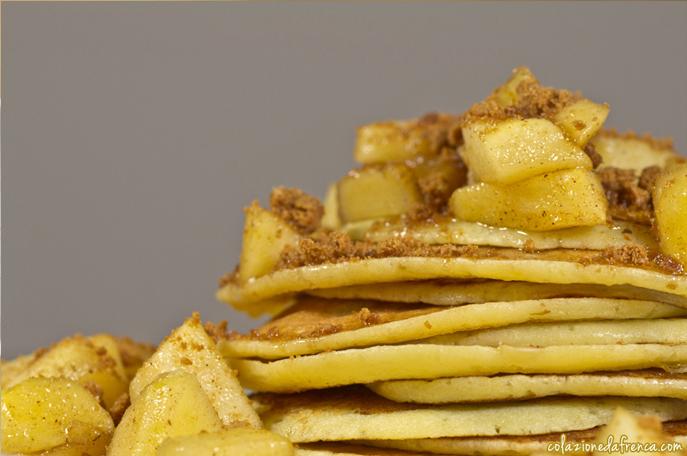 pancake miele, mele e cannella