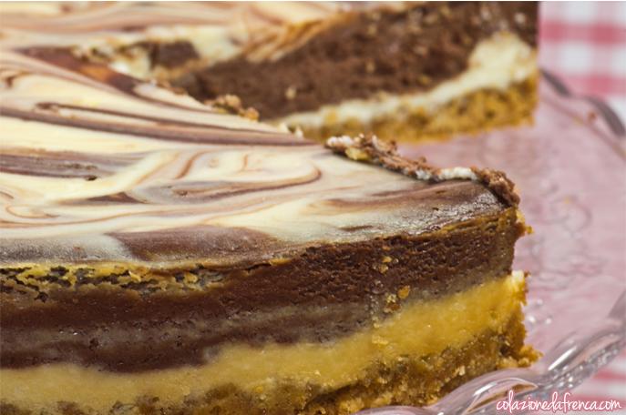 cheesecake cioccolato bianco e fondente