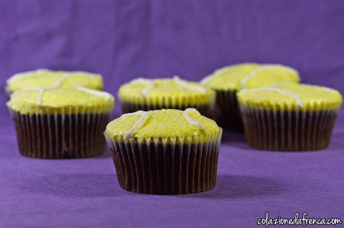 cupcakes cioccolato tema sport