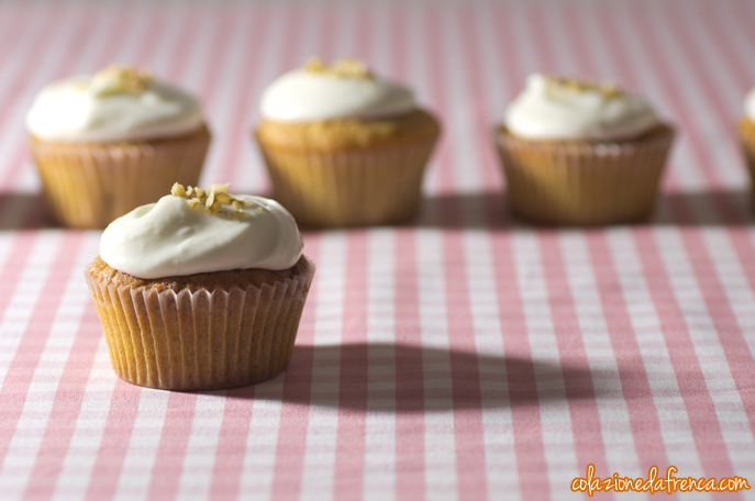 cupcakes alla carota e cream cheese