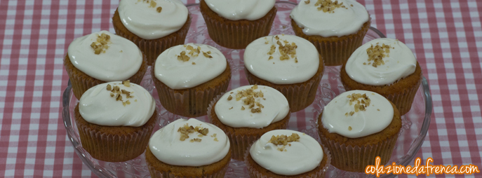 cupcakes carota e cream cheese