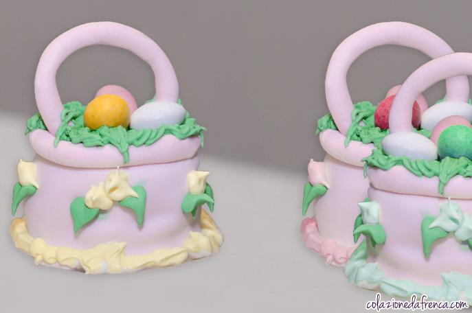 mini cakes cestino