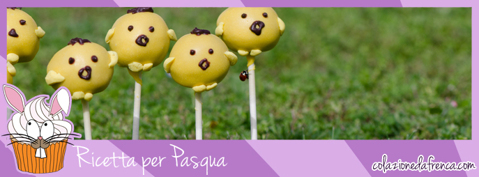 cake pops pulcini pasquali