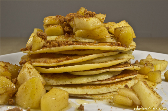 pancake mele e biscotti