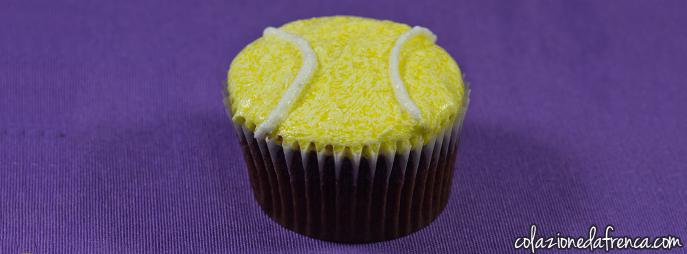 cupcake cioccolato tema sport tennis