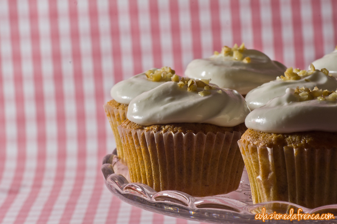cupcakes alla carota e cream cheese