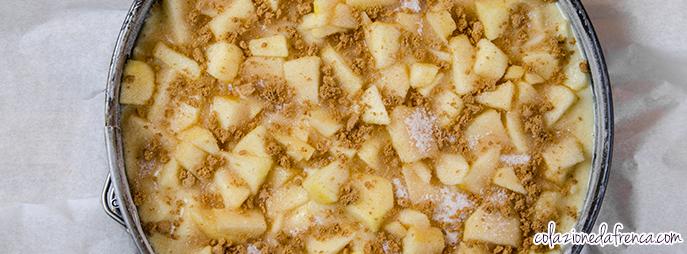 torta di mele e speculoos