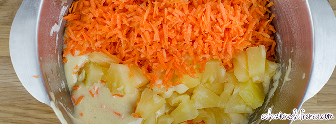 torta di carote ananas noci